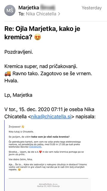 Marjetka mail