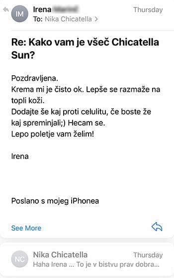 Review krema za sončenje Irena